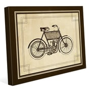 Click Wall Art 'Vintage Bike' Graphic Art on Wrapped Canvas; 16'' H x 20'' W x 1.5'' D