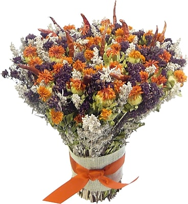Dried Flowers and Wreaths LLC Safflower and Chili Bouquet WYF078277250182