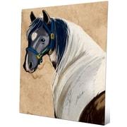 Click Wall Art 'Horse Portrait' Painting Print; 20'' H x 16'' W x 0.04'' D