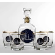 Richard E. Bishop 5-Piece Americas Cup Decanter Set
