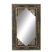 Cole & Grey Wood Curved Wall Mirror