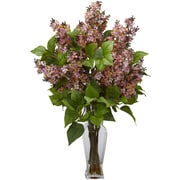 Tori Home Lilac Silk Flower Arrangement w/ Decorative Vase; Pink