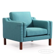 Kardiel Monroe Mid Century Modern Arm Chair; Dutch Blue