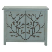 Cole & Grey 2 Door Wood and Metal Accent Cabinet