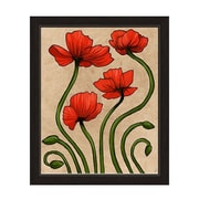 Click Wall Art ''Elegant Poppies'' Framed Painting Print on Canvas; 22.5'' H x 18.5'' W x 1'' D