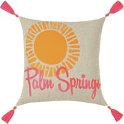 Trina Turk Neon Palm Springs Embroidered Linen Throw Pillow; Pink