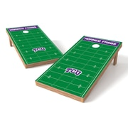 Tailgate Toss NCAA Football Field Cornhole Game Set; Texas Christian Horned Frogs