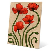 Click Wall Art ''Elegant Poppies'' Painting Print; 20'' H x 16'' W x 0.04'' D