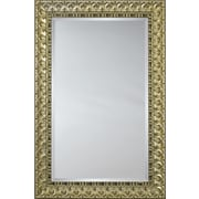 Mirror Image Home Mirror Style 6602 - Silver with Black Accent Transitional; 36 x 46