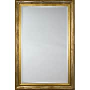 Mirror Image Home Mirror Style 6606 - Distressed Silver and Burgundy with Gold Lip; 40.75 x 52.75