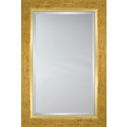 Mirror Image Home Mirror Style 8022 - Hand Distressed Pine with Gold Lip; 30 x 42