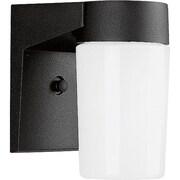 Progress Lighting 1 Light Outdoor Sconce; Black Aluminum