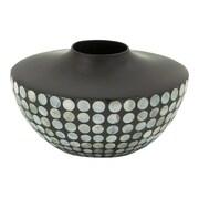 Cole & Grey Ceramic Lacquer Inlay Vase
