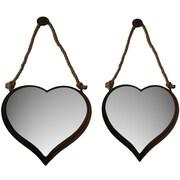Cheungs 2 Piece Nesting Heart Shape Mirror Set