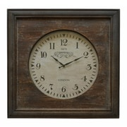 Cheungs Wood Square Wall Clock