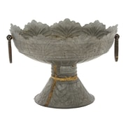 Cole & Grey Metal Embossed Bowl
