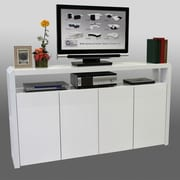 Best Quality Furniture 4 Door Accent Cabinet; White