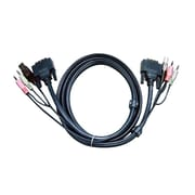 Aten 2L7D02UI Black 1.8 m USB DVI-I Single Link KVM Cable for DVI KVM Switch