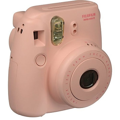 Fujifilm Instax Mini 8 Instant Film Camera Bundle, 60 mm, Pink, 2/Pack
