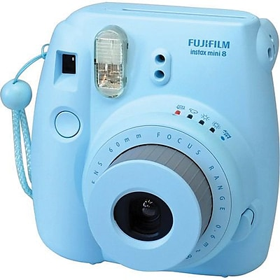 Fujifilm Instax Mini 8 Instant Film Camera Bundle, 60 mm, Blue (16273439 BNDL)