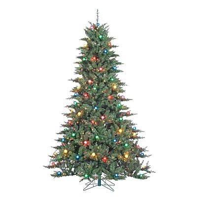 Sterling Inc Reno 7.5' Green Pine Artificial Christmas Tree w/ 100 Incandescent Multicolor Lights WYF078279412112