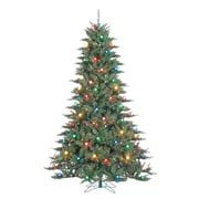 Sterling Inc Reno 7.5' Green Pine Artificial Christmas Tree w/ 100 Incandescent Multicolor Lights