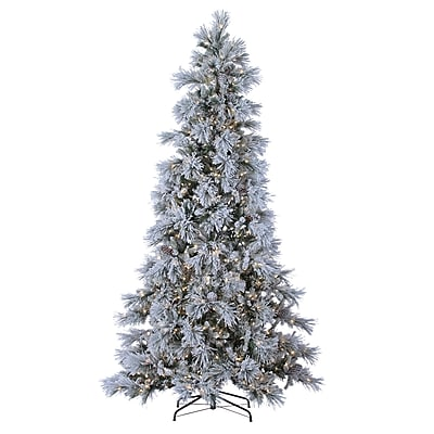 Sterling Inc 9' Green Pine Artificial Christmas Tree w/ 900 LED Cool White Lights and Snowy Branches WYF078279412118