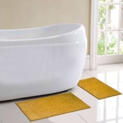 Simple Elegance New York Milan 2 Piece Bath Rug Set; Gold