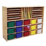 Contender Ready-To-Assemble Multi-Storage with Trays Cubby; Assorted