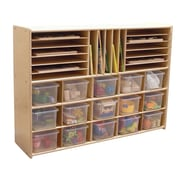 Contender Ready-To-Assemble Multi-Storage with Trays Cubby; Translucent