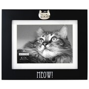 Malden Meow Black Matted Picture Frame