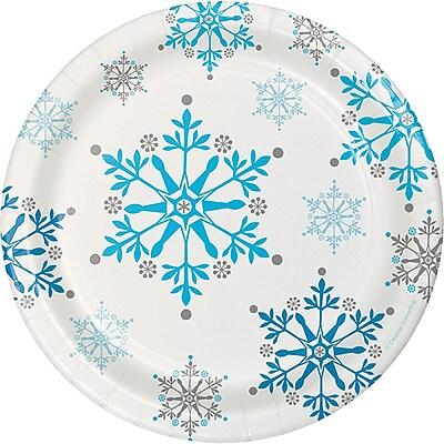 Creative Converting Snowflake Swirls Dessert Plates, 8 pack (317149) 2453664