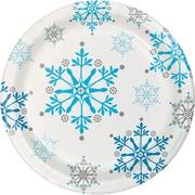 Creative Converting Snowflake Swirls Dessert Plates, 8 pack (317149)