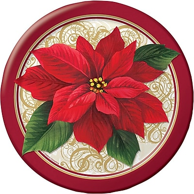 Creative Converting Poinsettia Lace Plates, 8 pack (317121) 2453661