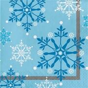 Creative Converting Snowflake Swirls Napkins,16 pack (317148)