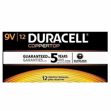 Duracell® CopperTop 9V Batteries, 12/Pack
