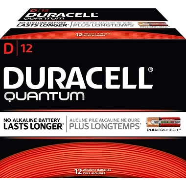 Duracell® Quantum D Batteries, 12/Pack