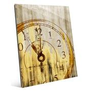 Click Wall Art 'Stain Clock Buff' Graphic Art; 20'' H x 16'' W x 1'' D