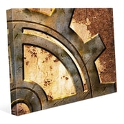 Click Wall Art 'Rusty Gear' Graphic Art on Wrapped Canvas; 11'' H x 14'' W x 1.5'' D