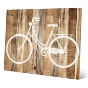 Click Wall Art 'Bicycle Wood' Wall Art; 8'' H x 10'' W x 0.04'' D
