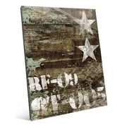 Click Wall Art 'RF-09 Typography and Stars' Graphic Art; 20'' H x 16'' W x 1'' D