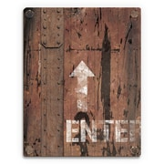 Click Wall Art 'Metal Enter Sign' Graphic Art  on Plaque; 12'' H x 9'' W x 1'' D