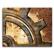 Click Wall Art 'Rusty Gear' Graphic Art on Plaque; 11'' H x 14'' W x 1'' D