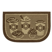 Structures Textured Loop Bed and Breakfast Coffee Wedge Slice Kitchen Area Rug