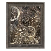Click Wall Art 'Many Hands of Time' Framed Graphic Art; 27.5'' H x 23.5'' W x 1'' D