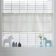 Best Home Fashion, Inc. Faux Silk Curtain Valance; Ivory