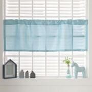Best Home Fashion, Inc. Faux Silk Curtain Valance; Sky Blue