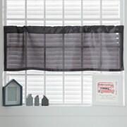 Best Home Fashion, Inc. Faux Silk Curtain Valance; Dark Gray
