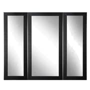 BrandtWorksLLC Madelyn Marie Full Body Trifold Mirror; Scratched Black