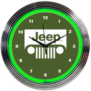 Neonetics 15'' Jeep Neon Clock